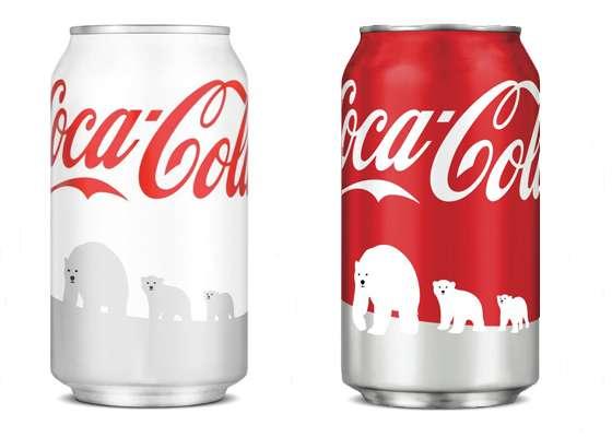 Coke canettes arctique