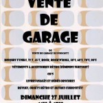 Vente de garage - affiche